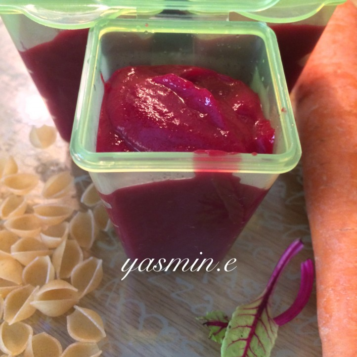 Beetroot and Carrot Pasta Puree
