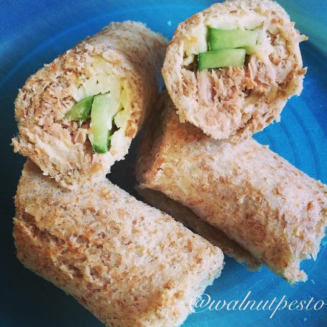 Cheesy Tuna Sushi Roll Ups