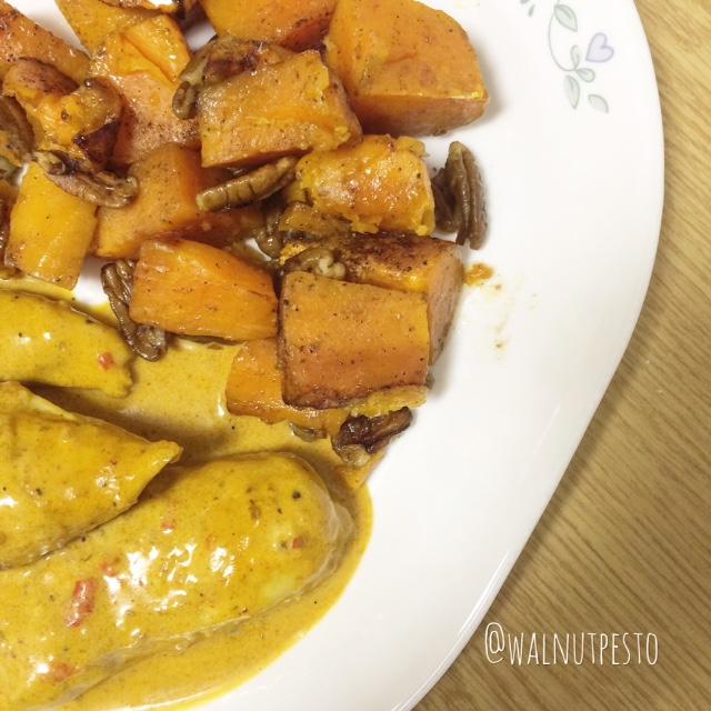 Cinnamon brown butter pecan sweet potatoes