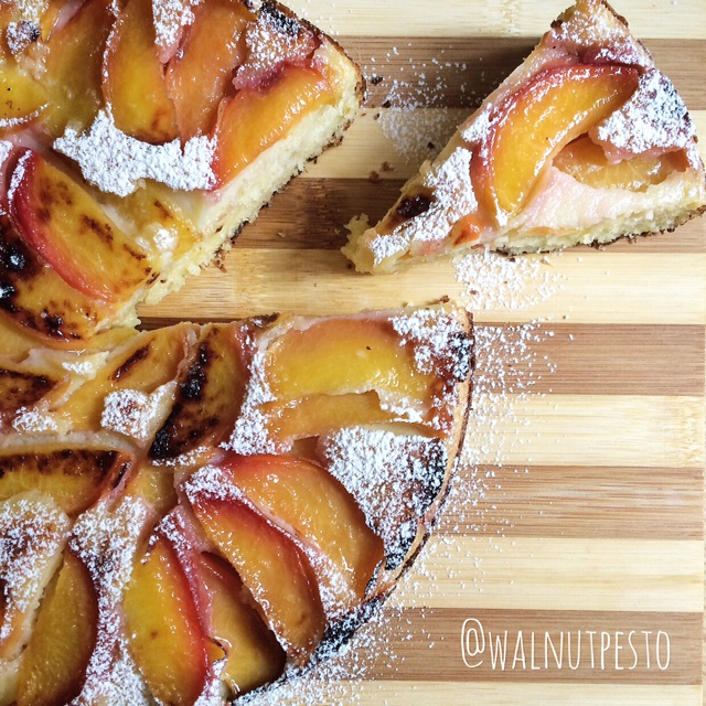 Upside down Peach and Coconut Cake