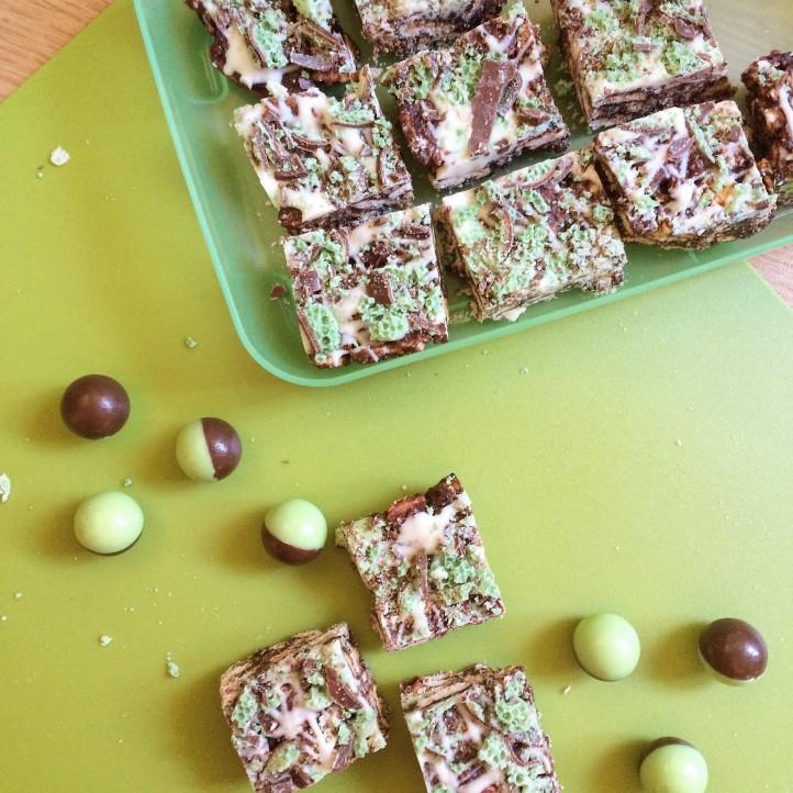 Choc Mint Crunch Squares