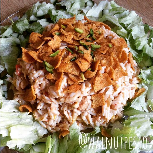 Tex Mex Ranch Chicken Pasta Salad
