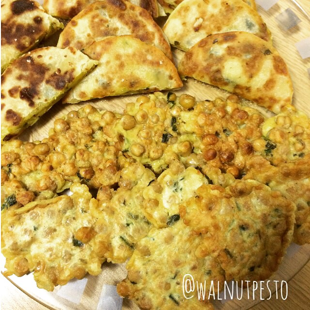 Middle Eastern spiced Chickpea Fritters
