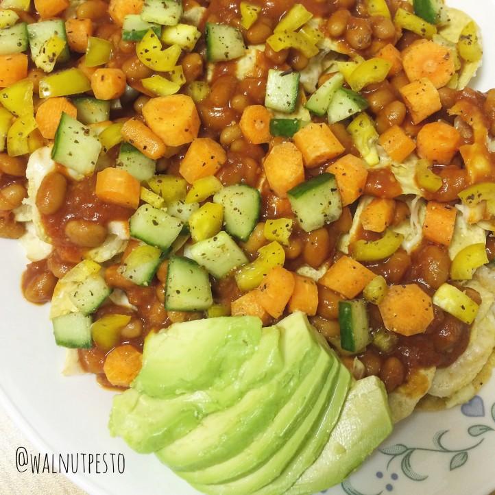 Crunchy Nachos Salad