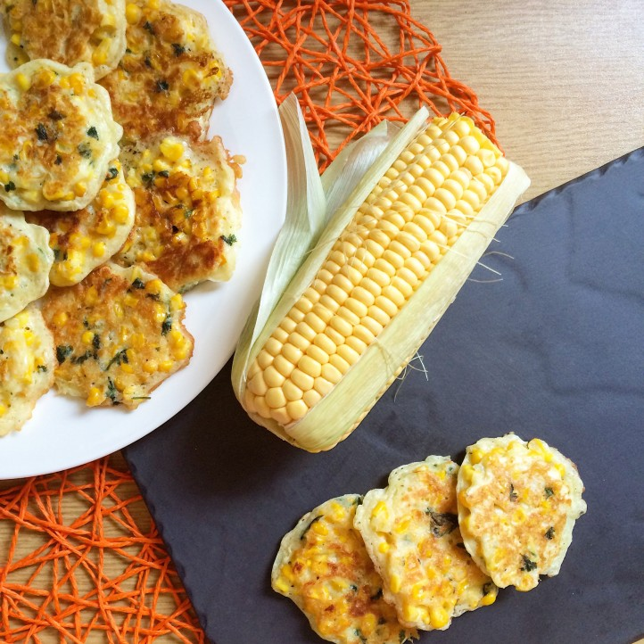 Roasted Corn and Chicken Fritters