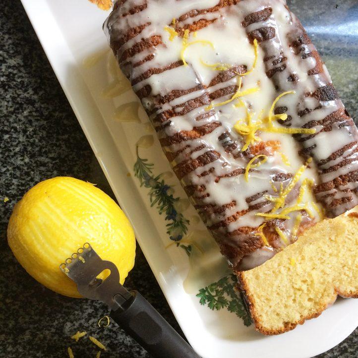 Lemon Tea Cake with Maple Glaze