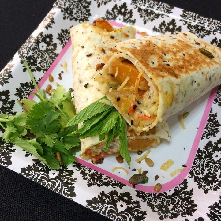 Middle Eastern Veggie Wraps